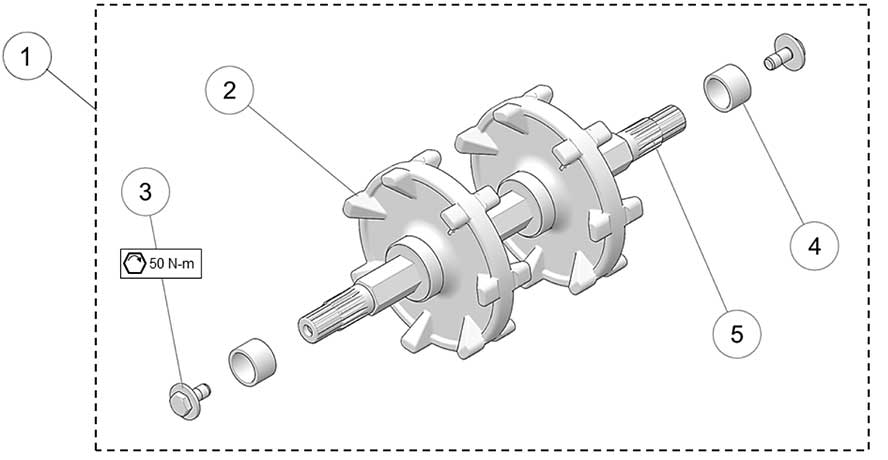2018 Camso DTS129 Drive Axle Assembly