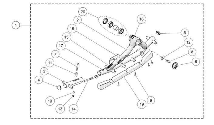 Camso ATV T4S MY2019 Rear Left Frame