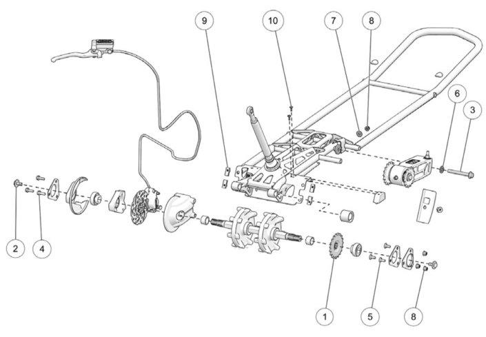 2019 Camso DTS129 Frame Assembly