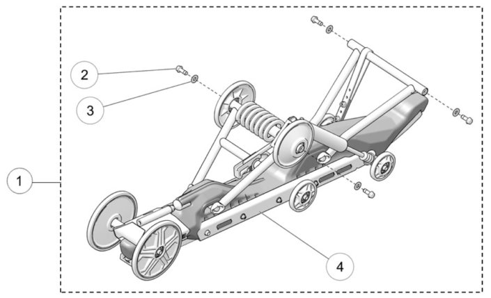 2019 Camso DTS129 Rear Suspension Assembly