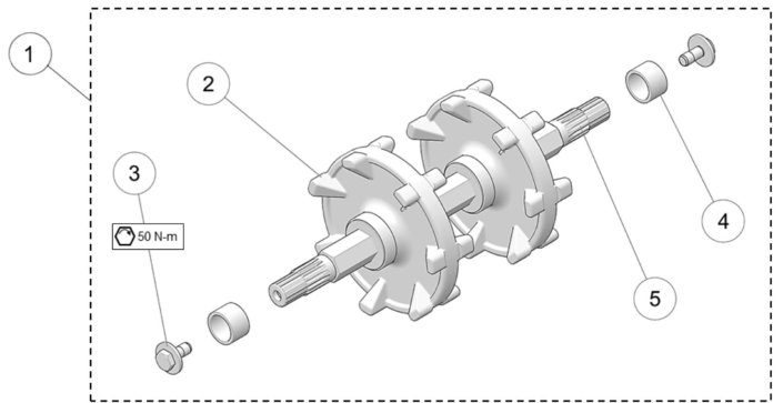 2019 Camso DTS129 Drive Axle Assembly